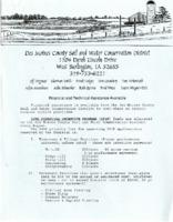1996 - Des Moines County Soil and Water Conservation District Information Review