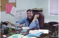 2000 - NRCS Soil Conservationist  Deb Nace works in her office