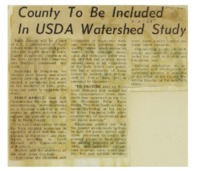 County to be Included in USDA Watershed Study