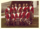 Small all-female group of Scottish Highlanders, The University of Iowa, April 22, 1978