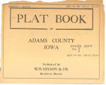 Plat book of Adams County, Iowa