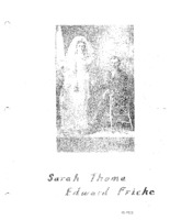 Fricke Family Genealogy, Volume II - Sarah Thoma & Edward Fricke (Part VIII)
