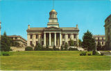 Old Capitol west facade, the University of Iowa, 1960s