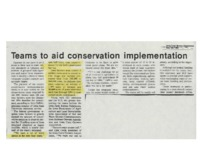 Teams to aid conservation implementation.