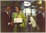 Rosemary Willson and Govenor Branstad, Des Moines, Iowa, June 1988