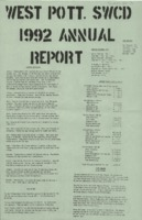 West Pottawattamie County Soil Conservation District Annual Report - 1992