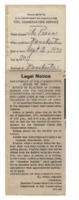 Legal notice.