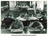 Students taking ITED tests at City High School, Iowa City, Iowa, 1943