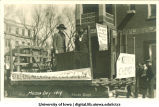 Chemical engineering float in Mecca Day parade, The University of Iowa, 1919