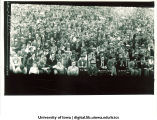 Football crowd at Denver game, The University of Iowa, October 29, 1927