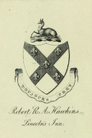 Lincoln's Inn bookplate: Robert R.A. Hawkins