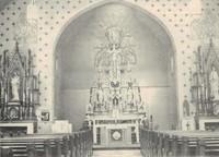 St. Joseph's Catholic Church in Garnavillo, Iowa -Interior 1963