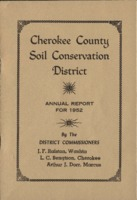 Cherokee County Soil Conservation District Annual Report - 1952