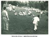 Horseshoes at a picnic , The University of Iowa, 1938