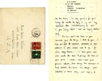 S.H. Clarke 'thank you' note to Helen Patricia (Patsy) Wilson concerning the bookplate exchange.