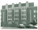 North entrance of the Main Library, the University of Iowa, 1960s