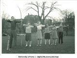 Archers in field adjacent to Iowa Memorial Union, The University of Iowa, 1930s