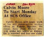 Calvin Moore starts SCS office in Eldora.