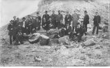 Group in petrified forest, Ariz., late 1890s or early 1900s