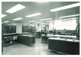 Reading room in Main Library, the University of Iowa, 1970