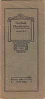 1908 Fairfield Chautauqua program