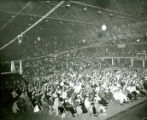 Crowd at Homecoming  Barbecue in the Armory, 1957