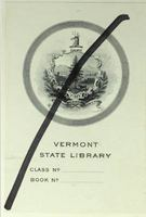 Vermont State Library bookplate