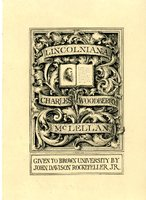 Charles Dane Woodberry Bookplate