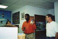 2000 - Rita Marshall, JB, and Dana Holland at JB's going away party