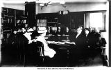 Old Dental Building, Professor Bolton with class in lecture room, Old Dental Building, The University of Iowa, 1900s