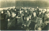 6th and 7th grade pupils of Salem High School, Salem, Iowa, 1900s