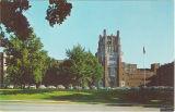 Main entrance to the University of Iowa Hospitals and Clinics, the University of Iowa, 1950s?