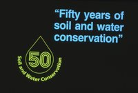 50 years of soil and water conservation sign