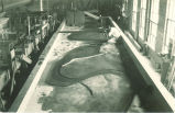 Model of 1903 Des Moines River flood at Ottumwa, Iowa built by Paul L. Hopkins, The University of Iowa, 1920s