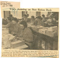 WACs assisting on new ration book