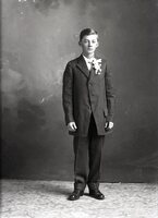 Boy with corsage