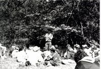 Outdoor classroom with Darrell Batterson, 1987