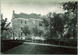 Calvin Hall in the fall, the University of Iowa, between 1900 and 1902