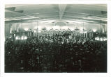 Orchestra concert with choir in Iowa Memorial Union, The University of Iowa, 1940s