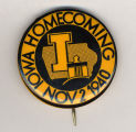 Homecoming badge, November 2, 1940