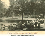 Cadets in front of Schaeffer Hall, The University of Iowa, 1902
