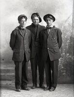 Three men in hats