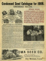 Iowa Seed Company Catalog 1908 Emergency Edition