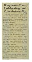 1966 - Harold Baughman named Outstanding Soil Commissioner