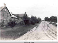 Street scene looking south, South Amana, Iowa, 1900s