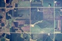 Aerial views of Cherokee County farmland.