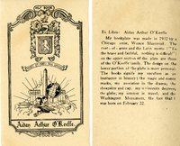 Aidan Arthur O'Keefe Bookplate