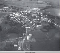 Aerial view Middle Amana, Middle Amana, Iowa, 1963?