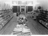 Co-op grocery, interior view toward front, Iowa City, Iowa, December 18, 1941