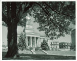 West portico of Old Capitol, The University of Iowa, 1960s